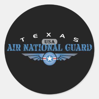 Texas Air National Guard Classic Round Sticker