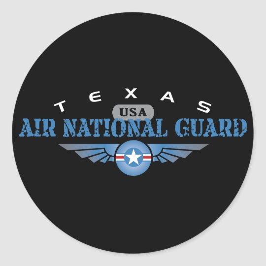 Texas Air National Guard Classic Round Sticker