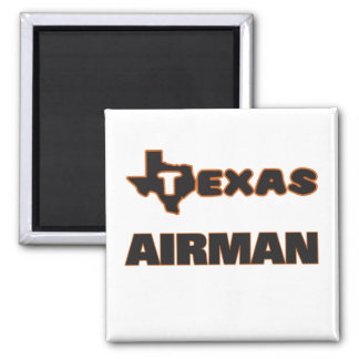 Texas Airman 2 Inch Square Magnet