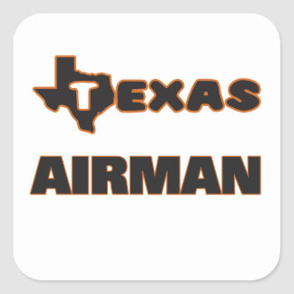 Texas Airman Square Sticker