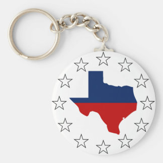 Texas All Red White & Blue (2) Keychain