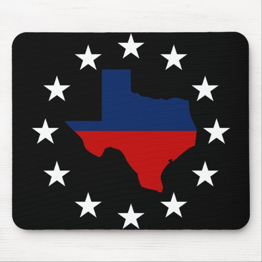 Texas All Red White & Blue Mousepads