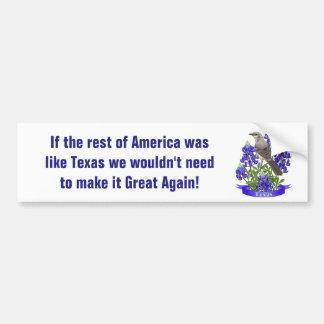 Texas Already Great Mockingbird & Bluebonnet Bumper Sticker