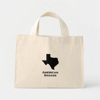 Texas American Badass black Mini Tote Bag