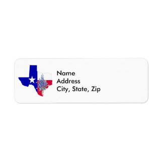 Texas and Bluebonnets Label