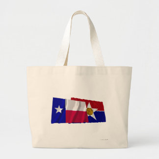 Texas and Dallas Flags Canvas Bags