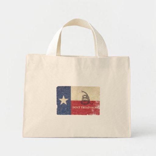 Texas and Gadsden Flag Mini Tote Bag