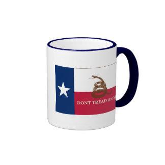 Texas and Gadsden Flag Ringer Coffee Mug