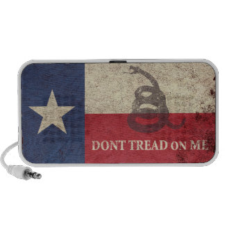 Texas and Gadsden Flag Travel Speakers