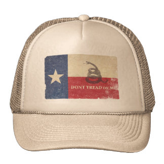 Texas and Gadsden Flag Trucker Hat