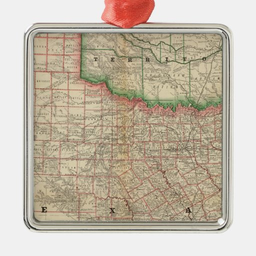Texas and Indian Territory Christmas Ornament