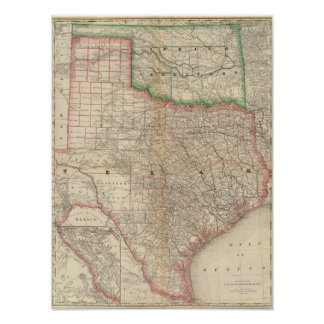 Texas and Indian Territory Poster