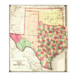 Texas and Indian TerritoryPanoramic Map Canvas Prints