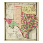 Texas and Indian TerritoryPanoramic Map Poster
