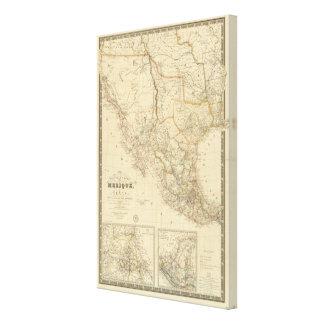 Texas and Mexico Canvas Print