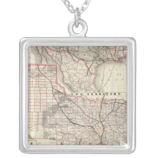 Texas and Mexico, Houston Square Pendant Necklace