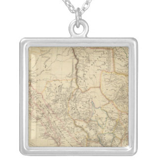 Texas and Mexico Silver Plated Necklace