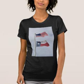 Texas and US Flag Tshirt