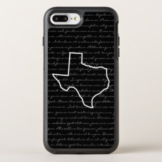 Texas / Any State Outline Drawing + Text OtterBox Symmetry iPhone 8 Plus/7 Plus Case