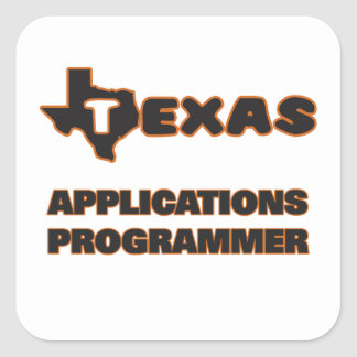 Texas Applications Programmer Square Sticker