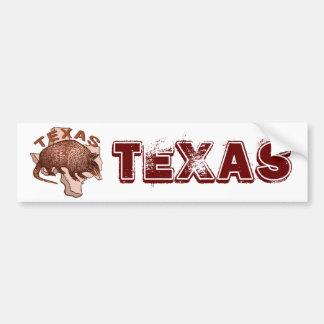 Texas Armadillo Bumper Sticker