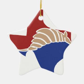 Texas Armadillo - TX State Design Ceramic Ornament