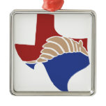 Texas Armadillo - TX State Design Metal Ornament