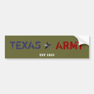 TEXAS ARMY BUMPER STICKER