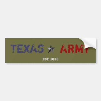 TEXAS ARMY BUMPER STICKERS