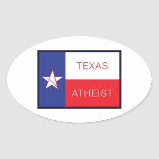 Texas Atheist Oval Sticker