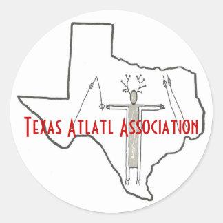Texas Atlatl Association Stickers Shaman