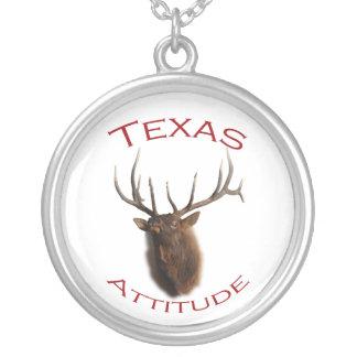 texas attitude silver plated necklace