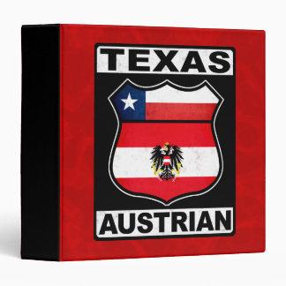 Texas Austrian American 3 Ring Binder