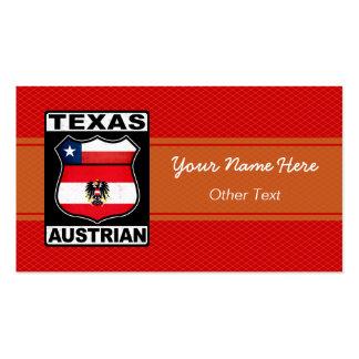 Texas Austrian American Custom Business Cards