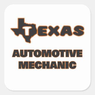 Texas Automotive Mechanic Square Sticker
