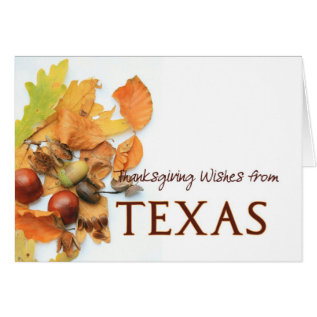 Texas autumn leaves thanksgiving card at Zazzle
