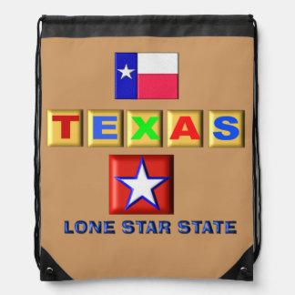 Texas - Back pack Cinch Bag