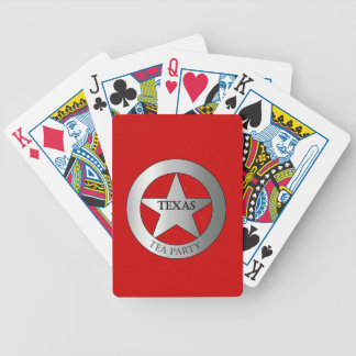 Texas Badge Tea Party Bicycle Playing Cards