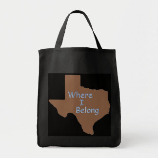 TEXAS GROCERY TOTE BAG