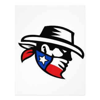 Texas Bandit Cowboy Side Retro Letterhead