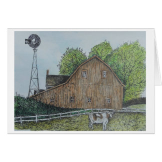 Texas Barn Card