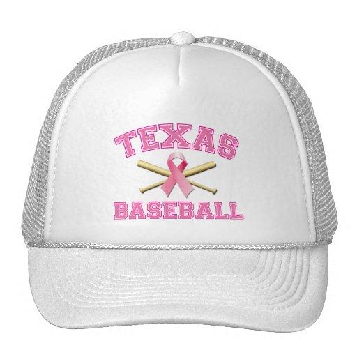 TEXAS BASEBALL PINK RIBBON TRUCKER HAT