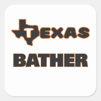 Texas Bather Square Sticker