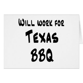 Texas BBQ Card