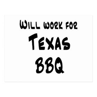 Texas BBQ Postcard