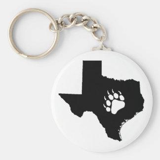 Texas Bear Basic Round Button Keychain