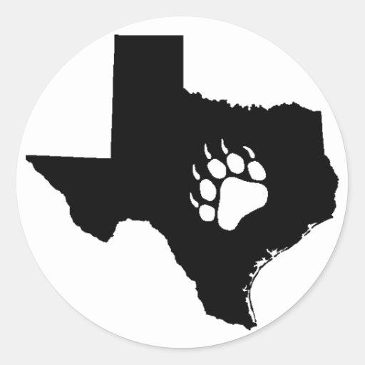 Texas Bear Classic Round Sticker
