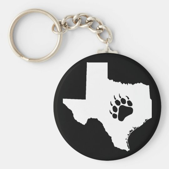 Texas Bear Paw Keychain