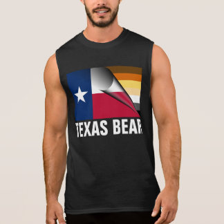 Texas Bear Pride Flag (White Paw Back) Sleeveless Shirt