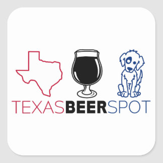 Texas Beer Spot Square Sticker